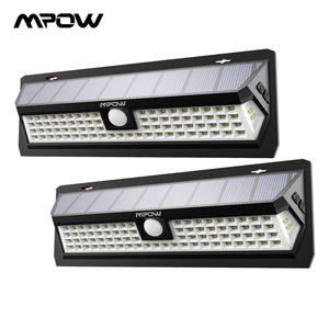 Image 1 - Mpow CD124 80 LED Solar Light 120 Degree Sensing Angle Outdoor Light 3 Adjustable Lighting Time For Garden Driveway Yard Garage