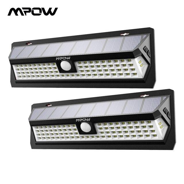 Mpow CD124 80 LED Solar Light 120 Degree Sensing Angle Outdoor Light 3 Adjustable Lighting Time For Garden Driveway Yard Garage