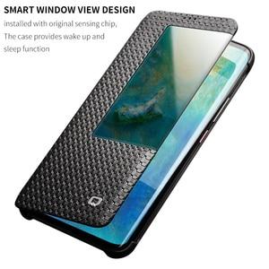 Image 2 - QIALINO Thời Trang Chính Hãng Da Lật Trường Hợp đối với Huawei Mate 20 Phong Cách Kinh Doanh Siêu Mỏng Thông Minh Xem Điện Thoại Bìa cho Mate20 pro