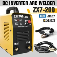 цена на ZX7-200 220V Welding Machine MMA ARC IGBT Welder DC Inverter Welding Machine 200A & Free Consumables