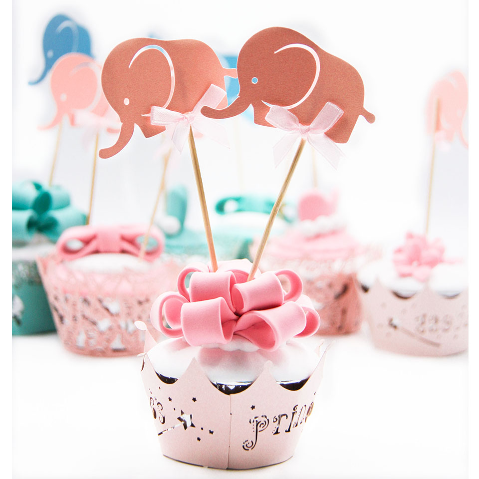 10pcs Mini Elephant Cupcake Toppers Cute Crafts Decoration For ...