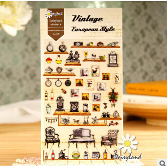 Vintage European Style Decorative Stickers Mobile Phone Stickers Stationery DIY Album Stickers
