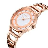 CRRJU Для женщин полые раскошный ремешок для часов золото Для женщин наручные часы Для женщин часы Нержавеющаясталь женские наручные часы