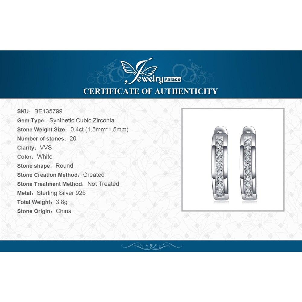 SmykkerPalace CZ øreringe i øreringe 925 sterling sølvøreringe - Mode smykker - Foto 6