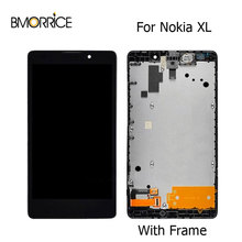 цена на Original LCD Display For Nokia XL Dual SIM 1030 RM-1030 RM-1042 Touch Screen With Frame Full Assembly Replacement Parts 5.0
