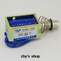 HCNE1-1039 12 V 24 V Pull Hold/Release 10mm Stroke 4.1Kg Fuerza Electroimán Del Solenoide Del Actuador