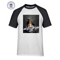 2017 Mode Zomer Stijl mode Hank Williams Jr Grappige T-shirt voor mannen