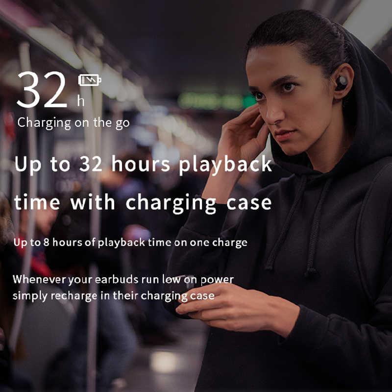 EDIFIER TWS5 Bluetooth V5.0 słuchawki TWS aptX dekodowania dźwięku IPX5 wodoodporna sterowanie dotykowe do 32hrs odtwarzania bezprzewodowe słuchawki