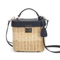 High Designer Women Beautiful Straw Hand Bags Mujer Handmade Rattan Woven Crossbody Basket Handbags With Large Capacity
