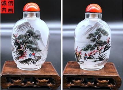 Snuff Bottle Painting Pure Hand Painted Bleach Pot Custom Gift Home Furnishing Decoration Business Affairs
