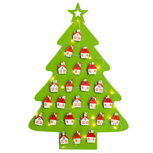 Creative Exquisite Christmas Tree Advent Calendar Felt Holiday Countdown Lamp-Display Calendar Kit Kids Gifts Christmas Decor(China)