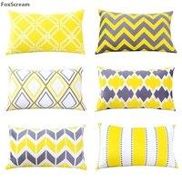 במקרה כרית דקורטיבי בסגנון נורדי, צהוב אפור גיאומטרי עיצוב בית כריות מושב כיסא ספה לזרוק כיסוי כרית לספה