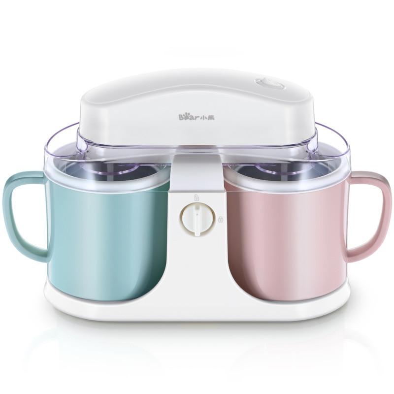 Machine Household Fully Automatic Double Barrel Small-sized Yogurt Ice Cream Machine Mini- Fruits Ice Cream Machine Children