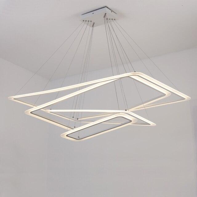Rettangolare anelli lampadari LED acrilico luci per la sala da ...