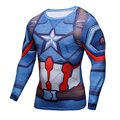 3d impreso camisetas capitán américa guerra civil tee camisa de manga larga de compresión cosplay fitness clothing tops masculinos