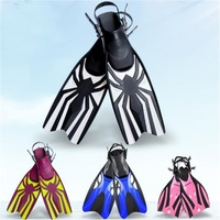 Professional Rubber Diving Fins Adjustable Swimming Training Fins High Grade Flippers