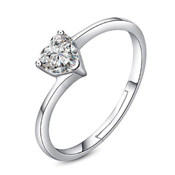 Women Super Flash Zircon Crystal Ring Jewelry 925 Silver Jewelry