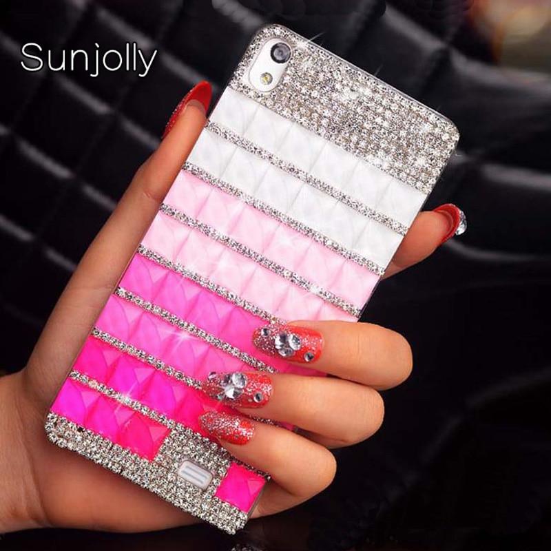 Sunjolly Strass Cas Cristal de Diamant Bling Couverture de Téléphone coque pour Sony Xperia E3 E4 XZ Prime XA1 Ultra L1 T3 XZ1 Compact