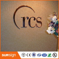 High quality stainless steel led channel letter metal painted channel letter
