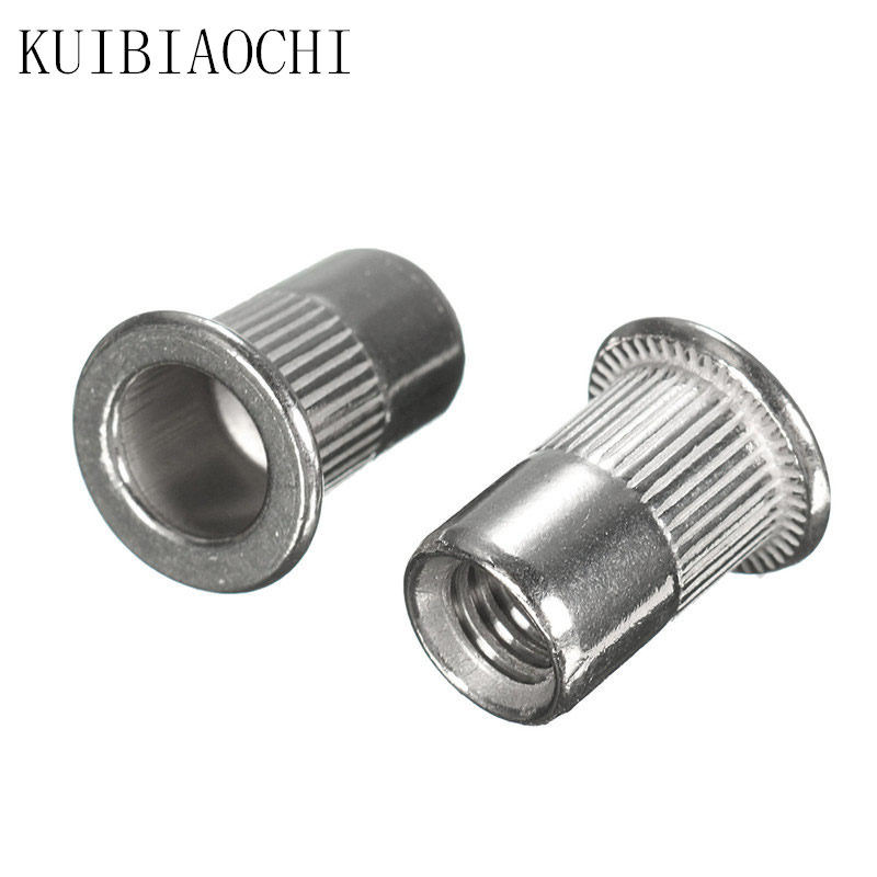 10Pcs Rivet Nut 304 Stainless Steel M3 M4 M5 M6 M8 M10 Flat Head Threaded Rivet Insert Nutsert Cap Rivet Nut
