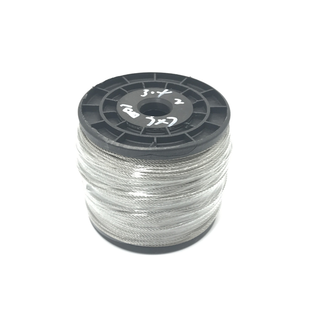 100m/lot 2mm High Stainless Steel Wire Rope Tensile Diameter 7X7 Structure Cable Gray 7x19 structure 5mm high tensile 5mm diameter aisi 304 stainless steel wire rope cable