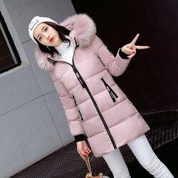 Grube podstawowe kurtka kobiety zimowe płaszcze bawełna Casual długa kurtka z kapturem damskie ciepłe zimowe znosić kobiety płaszcz Jaqueta Feminina 4