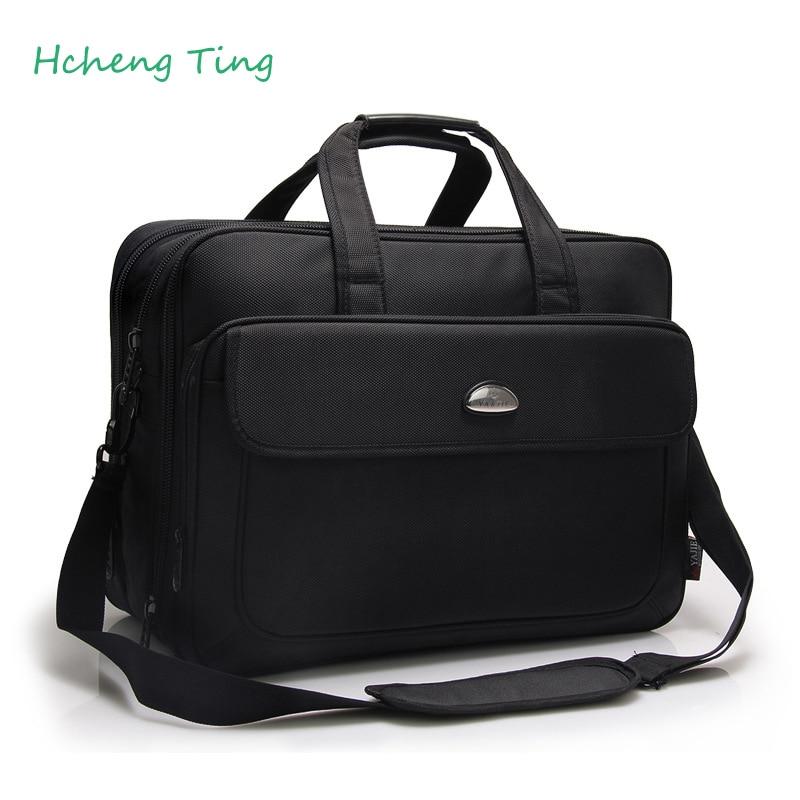 Real Men s Bags Handbag Large Capacity Briefcase Shoulder Bag Computer with Short Handles Black Men
