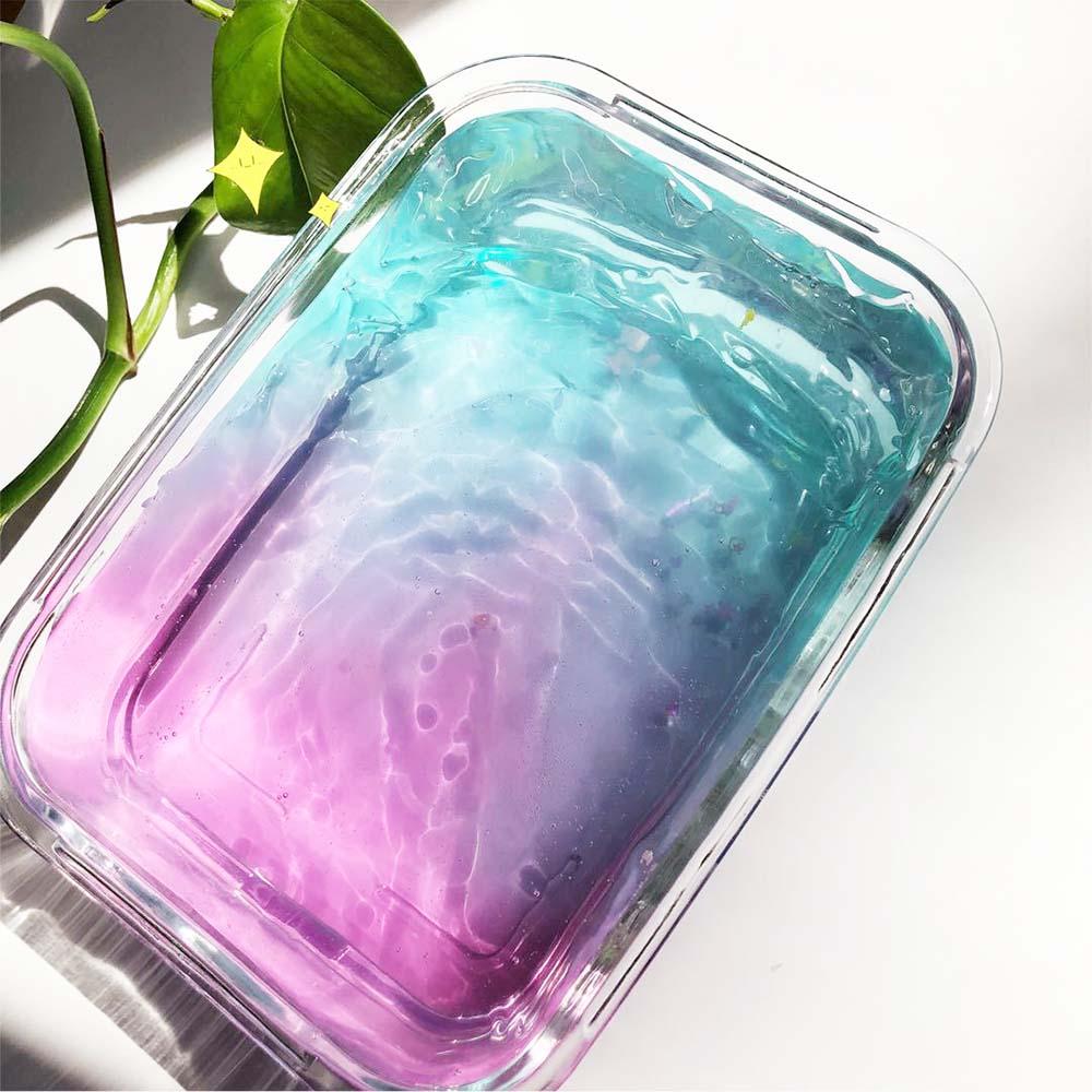 60ml 100ml Clay Slime DIY Soft Transparent Mixing Color Crystal Cloud Slime Kids Plasticine Anti-stress DIY Toys