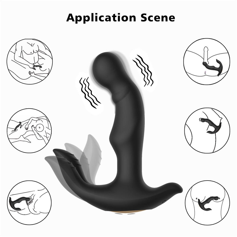 Vibrating Prostate Massager Men Anal Plug Waterproof with Powerful Motors 10 Stimulation Patterns Butt Anus Silicone Sex ToysVibrating Prostate Massager Men Anal Plug Waterproof with Powerful Motors 10 Stimulation Patterns Butt Anus Silicone Sex Toys