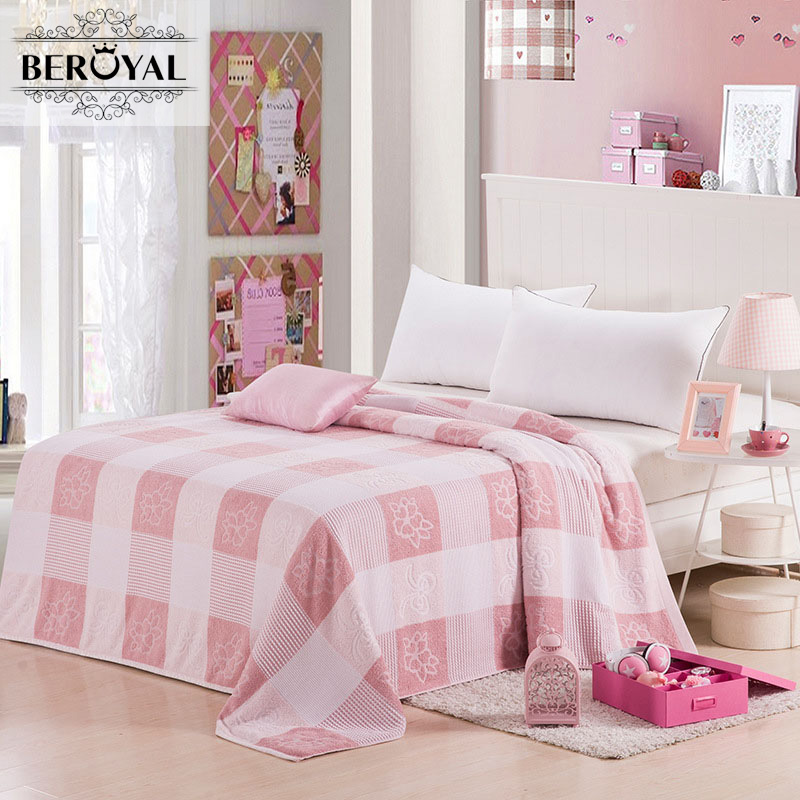 New 2017 Throw Blanket - 1piece 180*200cm 100% Cotton Blankets Adult Super Soft Solid Blankets Plaid Blanket for Adult Bed new 2017 throw blanket 1piece 150 200cm 100