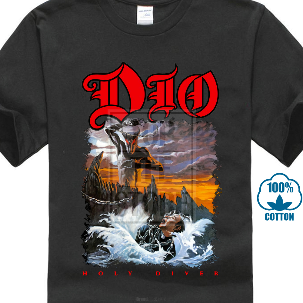 Dio Holy Diver T Shirt S M L Xl 2Xl Brand New Official T Shirt Global