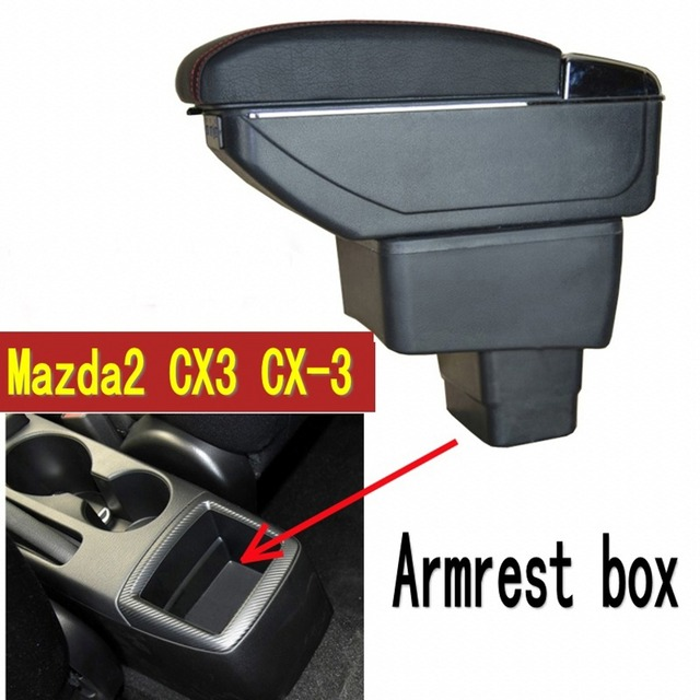 US $31 2 40% OFF For mazda2 Demio mod sckatic armrest box central Store  content box with cup holder ashtray USB cx 3 armrests box cx3-in Armrests  from