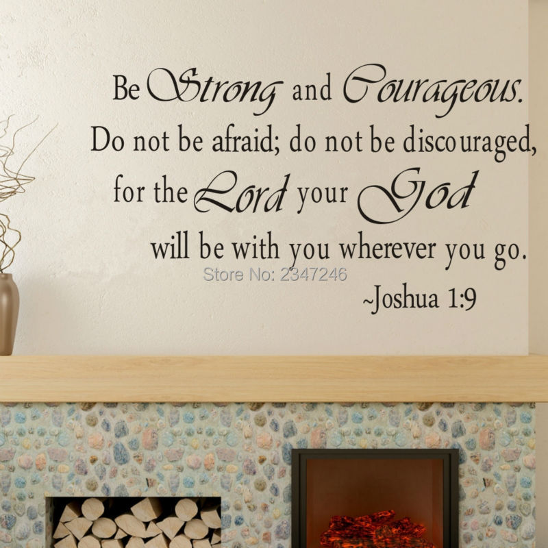 Christian Inspirational Quotes Vinyl Wall Stickers Quote Home Decor Wall Art Home Decoration For
