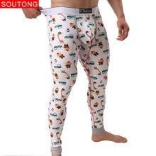 Soutong 2018 Winter Warm Men Long Johns Cotton Printed Men Thermal Underwear Long Johns Underpants Underwear Men M-XXL