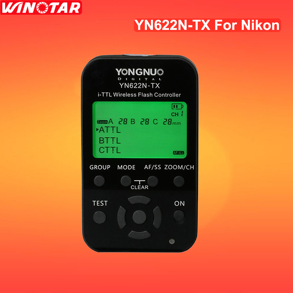 YONGNUO YN622N-TX E-TTL wireless flash controller is a YN622N i-TTL radio flash transceiver support For All NIKON DSLR Cameras 2pcs yongnuo yn622n ii yn622n tx i ttl wireless flash trigger transceiver for nikon camera for yongnuo yn565 yn568 yn685 flash