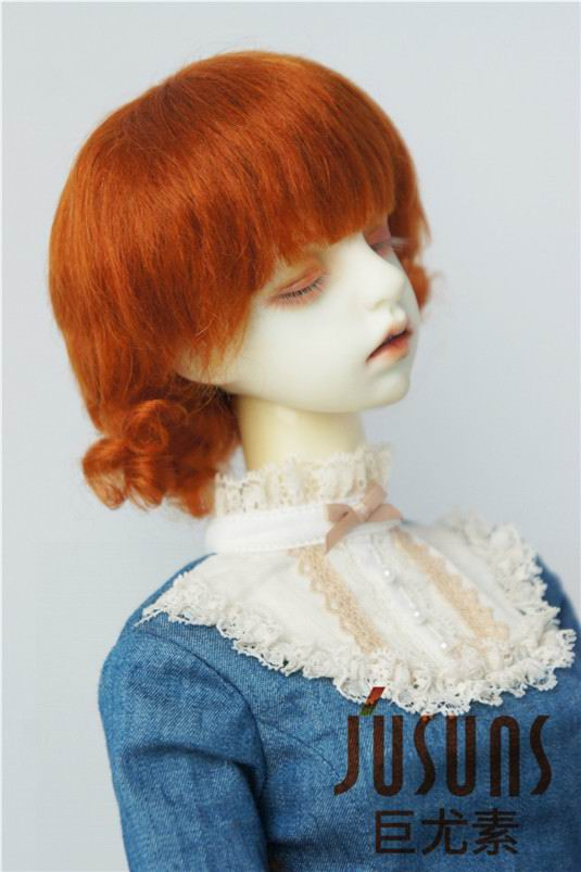 JD268 1/3 SD 100% mohair doll wigs SD 8-9inch Short back curly BJD wig