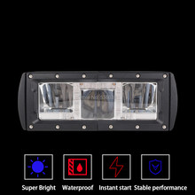 "1PC 7.5 ""30W Rectangle Waterproof LED Light Bar with Day Running Light for 4x4 Off Road Jeep ATV SUV UTV Car Truck(China)"