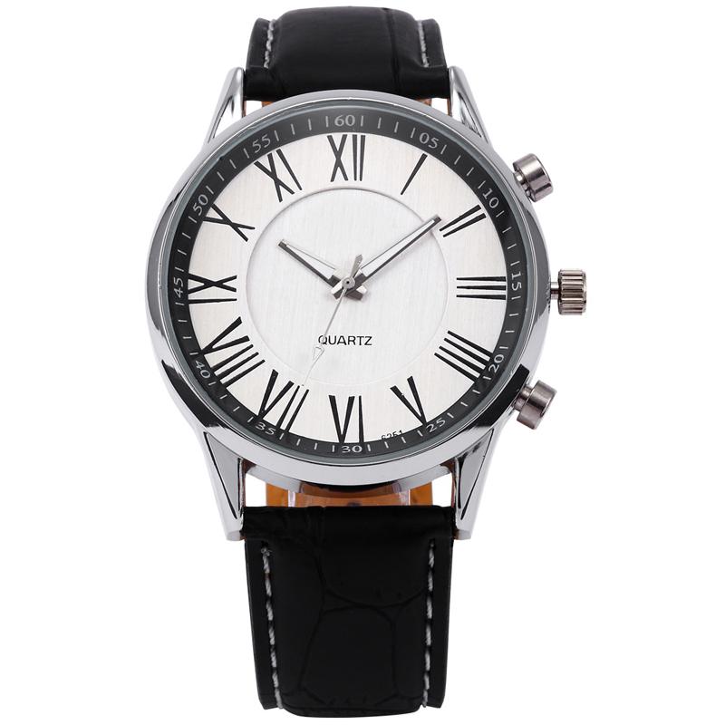 Ludzie Biznesu Kwarcowy Zegarek 2017 mężczyzna Elegancki Pu Leather Military Zegarki Sportowe Męskie Casual Analogowe Wrist Watch Relogio Masculino 2