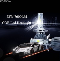 Pair 72W 7600LM COB C6 LED Headlight Bulbs H1 H3 H4 H7 H8 H9 H11 H13