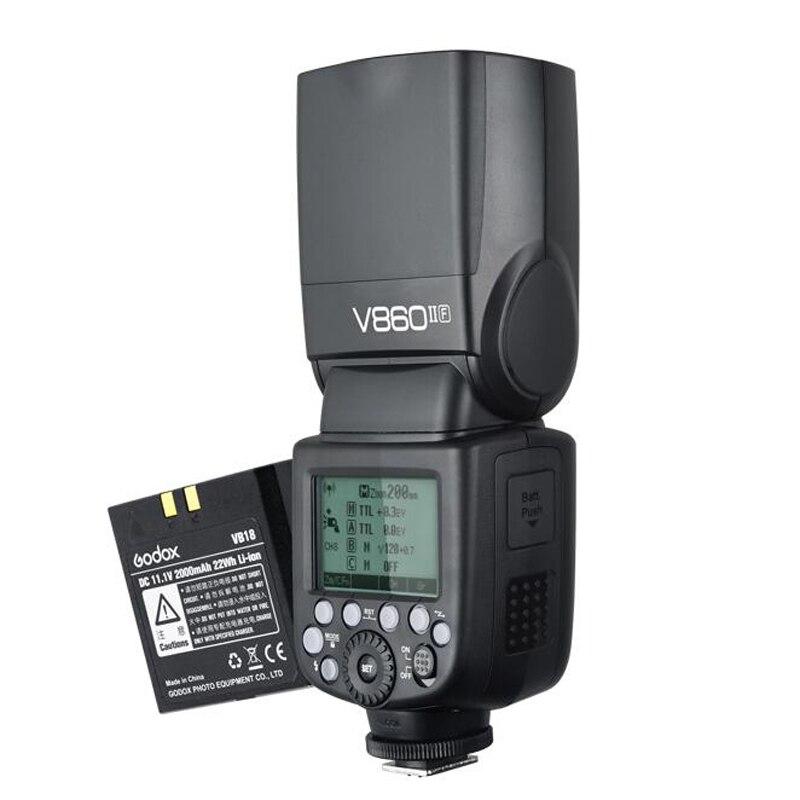 Godox V860IIF + 2000 mahリチウムイオン電池gn60 2.4グラムhss 1/8000 sワイヤレスttlフラッシュライトスピードライト富士フイルムカメラ  グループ上の 家電製品 からの 点滅 の中 2