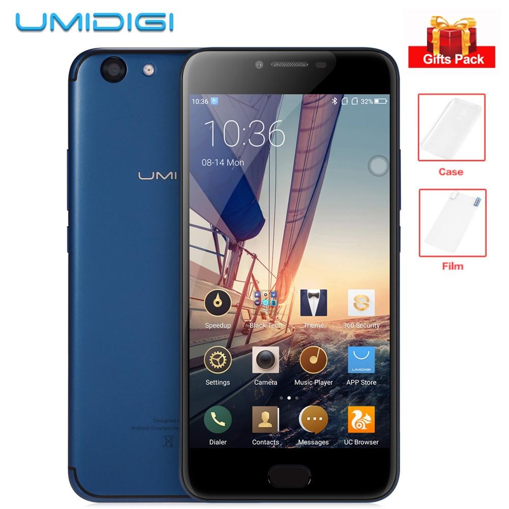 UMIDIGI C HINWEIS 2 5,5 ''FHD Android 7.0 Octa-core 4 GB + 64 GB 13MP + 5MP Doppelkameras MTK6750T Vorder Touch ID 4000 mAh 4G Handy