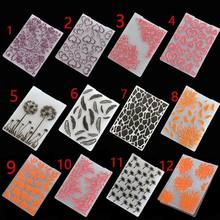 2019 New Flower Plastic Embossing Folder For Scrapbooking DIY Paper Card Photo Album Plastic Template Stamp Card Making Decor(China)