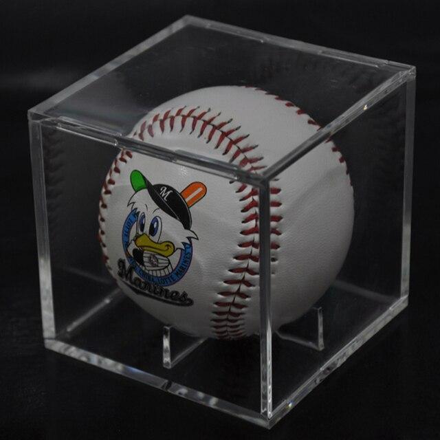 Acrylic 9 Inch Baseball Box Display Golf Tennis Ball Transparent Case for  Souvenir Storage Box Holder UV Protection Dustproof 1