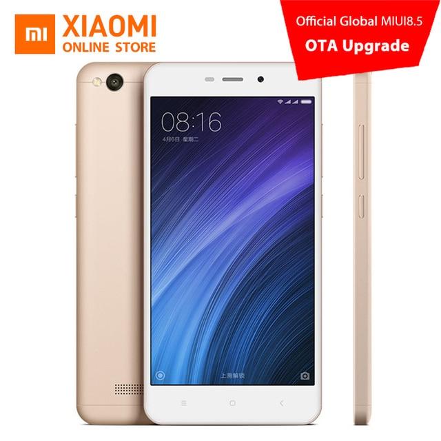 Оригинальный Xiaomi Redmi 4A мобильный телефон Snapdragon 425 4 ядра Процессор 2 ГБ Оперативная память 16 ГБ Встроенная память 5.0 дюймов 13.0MP Камера 3120 мАч Батарея