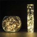 10 M 100 LED impermeable de la batería de alambre de cobre led cadena de luces de navidad decoración de la boda guirnalda franja blanca cálida/fría blanco