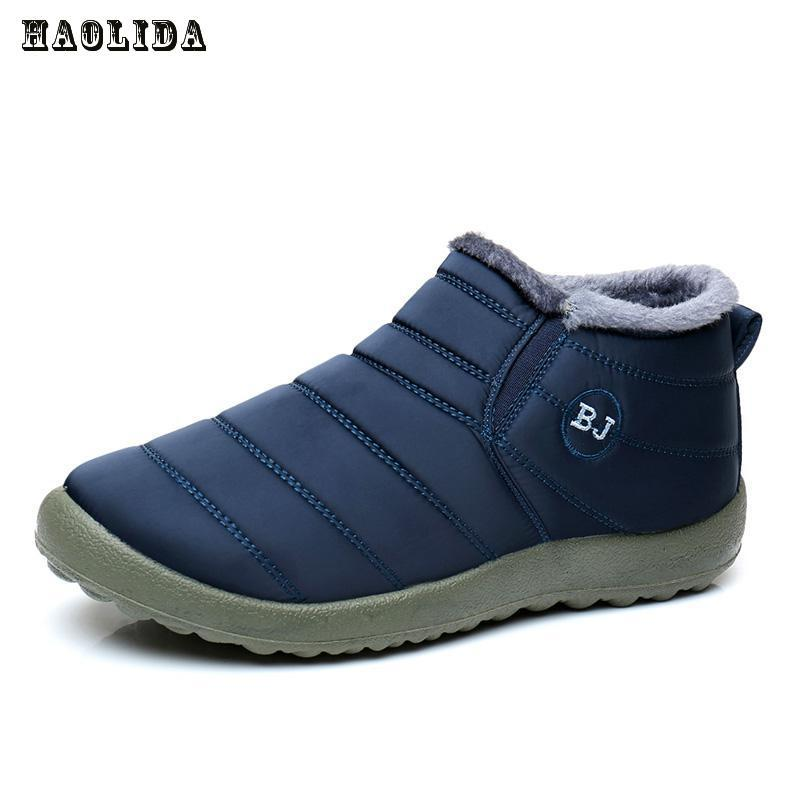 Waterproof Women Winter Shoes Couple Unisex Snow Boots Warm Fur Inside Antiskid Bottom Keep Warm Mother