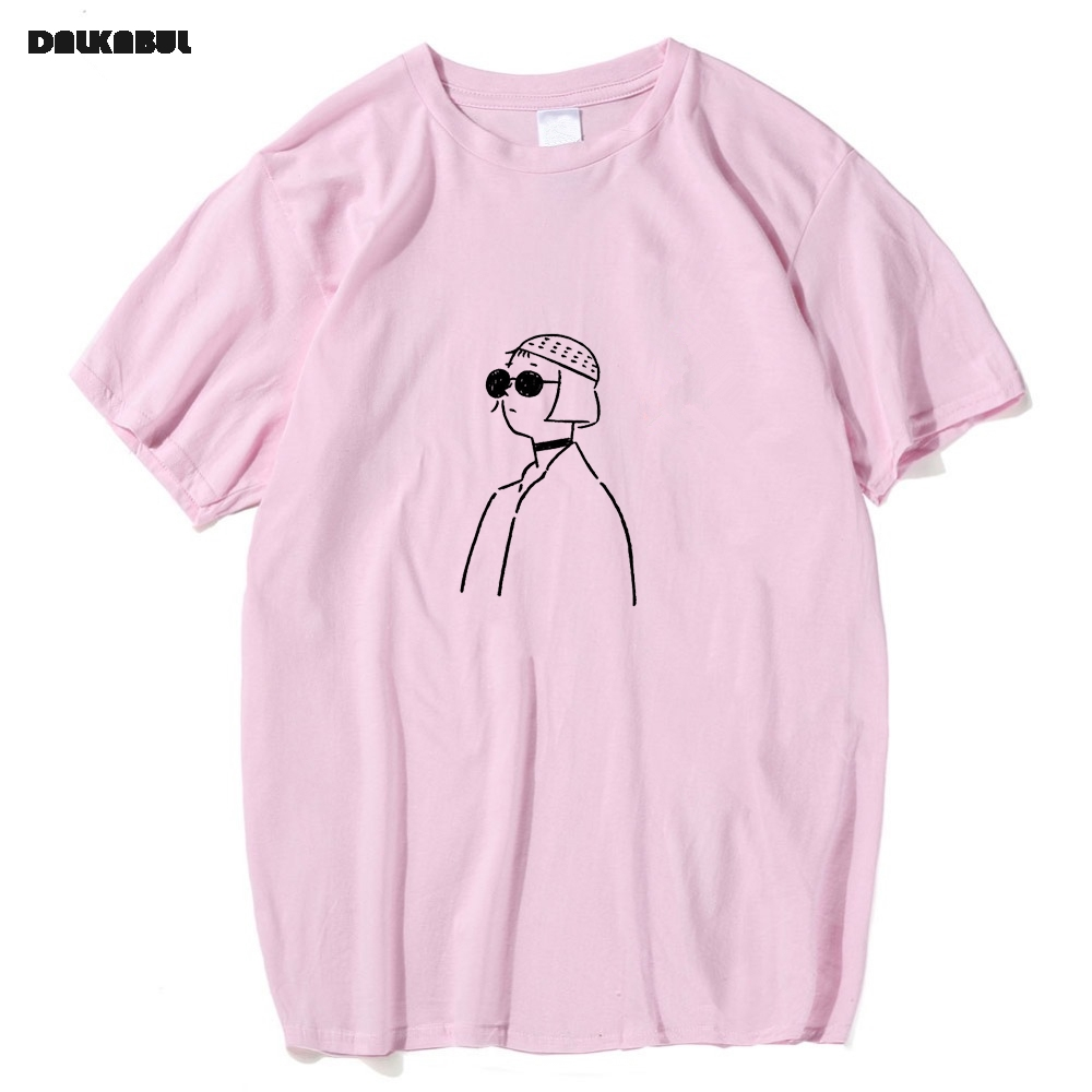 LEON The Professional   T     shirt   Cartoon Funny Pink Matilda   T  -  Shirts   100% Cotton Clothes Short Sleeve Skateboard Tops Tees
