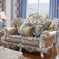 1+2+3 Modern Design Sectional Soft Genuine Leather Sofa Set Living Room Furniture