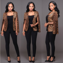 2016 Winter American Leopard Print Jacket Military Fatigues Restoring Long Women Jacket Oveside wear fashion vestidos Jackets