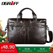 OGRAFF большая кожаная мужчин сумка мужская через плечо натуральная кожа сумки мужские кожаные сумочка мешок мужской сумки из натуральной кожи мужская сумка для ноутбука дизайнер 2018